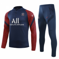 20/21 PSG White Zipper Sweat Shirt Kit(Top+Trouser)