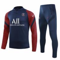 20/21 PSG Navy Zipper Sweat Shirt Kit(Top+Trouser)