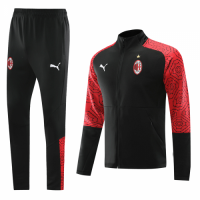 20/21 AC Milan Black High Neck Collar Training Kit(Jacket+Trouser)