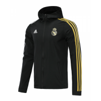 20/21 Real Madrid Black&Golden Windbreaker Hoodie Jacket