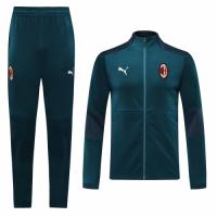 20/21 AC Milan Blue High Neck Collar Training Kit(Jacket+Trouser)
