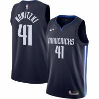 Men's Dallas Mavericks Dirk Nowitzki No.41 Nike Navy Finished Swingman Jersey - Statement Edition
