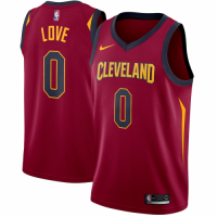 Men's Cleveland Cavaliers Kevin Love No.0 Nike Maroon Swingman Jersey - Icon Edition