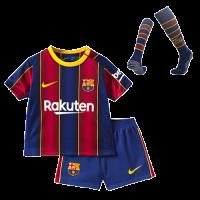 Barcelona Kids Soccer Jersey Home Whole Kit (Shirt+Short+Socks) 2020/21