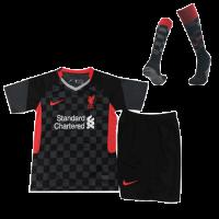Liverpool Kids Soccer Jersey Third Away Whole Kit (Shirt+Short+Socks) 2020/21