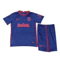 20/21 Atletico Madrid Away Navy Children's Jerseys Kit(Shirt+Short)