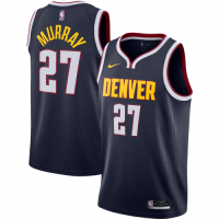 Men's Denver Nuggets Jamal Murray No.27 Nike Navy 202021 Swingman Jersey - Icon Edition