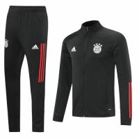 20/21 Bayern Munich Black High Neck Collar Training Kit(Jacket+Trouser)