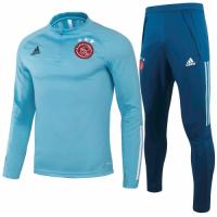 20/21 Ajax Light Blue Zipper Sweat Shirt Kit(Top+Trouser)