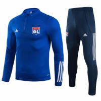 20/21 Olympique Lyonnais Navy Zipper Sweat Shirt Kit(Top+Trouser)