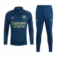 20/21 Arsenal Navy Zipper Sweat Shirt Kit(Top+Trouser)
