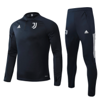 20/21 Juventus Navy Zipper Sweat Shirt Kit(Top+Trouser)