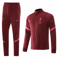 20/21 Liverpool Red High Neck Collar Training Kit(Jacket+Trouser)