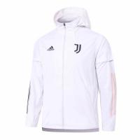 20/21 Juventus White Windbreaker Hoodie Jacket