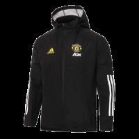 20/21 Manchester United Black Windbreaker Hoodie Jacket