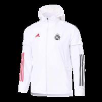 20/21 Real Madrid White&Pink Windbreaker Hoodie Jacket