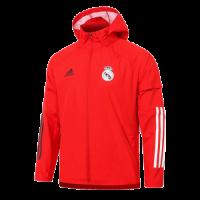 20/21 Real Madrid Red Windbreaker Hoodie Jacket