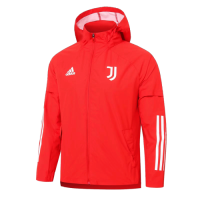 20/21 Juventus Red Windbreaker Hoodie Jacket