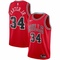 Men's Chicago Bulls Wendell Carter Jr. No.34 Nike Red Swingman Team Jersey