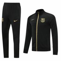 20/21 Barcelona Black High Neck Collar Player Version  Training Kit(Jacket+Trouser)