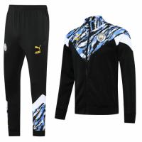 20/21 Manchester City Black&Blue High Neck Collar Training Kit(Jacket+Trouser)