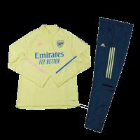 Kids 20/21 Arsenal Yellow Zipper Sweat Shirt Kit(Top+Trouser)