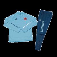 Kids 20/21 Ajax Light Blue Zipper Sweat Shirt Kit(Top+Trouser)