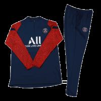Kids 20/21 PSG Navy Zipper Sweat Shirt Kit(Top+Trouser)