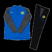 Inter Milan Kids Zipper Sweat Kit (Top+Trouser) Blue 2020/21