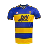 01/02 Parma Calcio 1913 Home Blue&Yellow Retro Jerseys Shirt