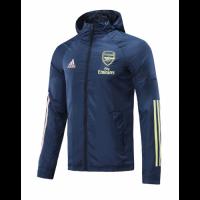 20/21 Arsenal Navy Windbreaker Hoodie Jacket