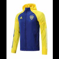 20/21 Boca Juniors Yellow&Blue Windbreaker Hoodie Jacket