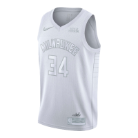 Men's Milwaukee Bucks Antetokounmpo #34 White MVP Jersey
