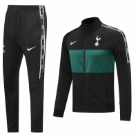 20/21 Tottenham Hotspur Black Player Version High Neck Collar Training Kit(Jacket+Trouser)