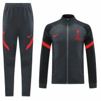 20/21 Liverpool Dark Gray High Neck Collar Training Kit(Jacket+Trouser)