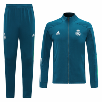 20/21 Real Madrid Navy High Neck Collar Training Kit(Jacket+Trouser)