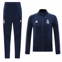 20/21 Real Madrid Navy&Red High Neck Collar Training Kit(Jacket+Trouser)