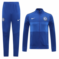 20/21 Chelsea Blue Player Version High Neck Collar Training Kit(Jacket+Trouser)