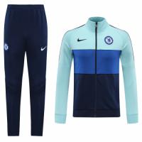 20/21 Chelsea Light Blue Player Version High Neck Collar Training Kit(Jacket+Trouser)