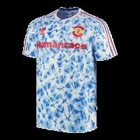 Manchester United Human Race Blue Soccer Jerseys Shirt(Player Version)