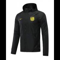 20/21 Barcelona Black Windbreaker Hoodie Jacket