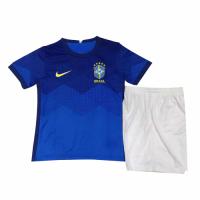Brazil Kids Soccer Jersey Away Kit (Shirt+Short) 2021