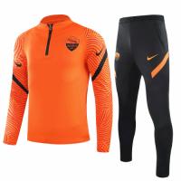 20/21 Roma Orange Zipper Sweat Shirt Kit(Top+Trouser)