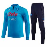 20/21 Napoli Blue Zipper Sweat Shirt Kit(Top+Trouser)