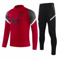 20/21 Liverpool Light Dark Red Zipper Sweat Shirt Kit(Top+Trouser)
