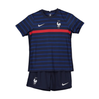 France Kids Soccer Jersey Home Kit (Shirt+Short) 2021