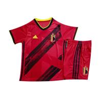 2020 Belgium Home Red Kids Jerseys Kit(Shirt+Short)