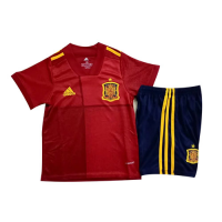 Spain Kids Soccer Jersey Home Kit (Shirt+Short) 2020