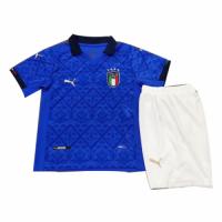 Italy Kids Soccer Jersey Home Kit (Shirt+Short) 2020