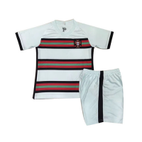 2020 Portugal Away Light Blue Children's Jerseys Kit(Shirt+Short)